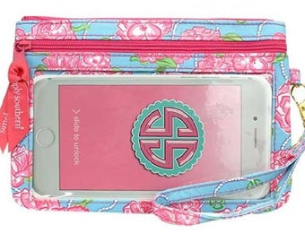 Simply Southern Phone Wristlet Wallet-Roses