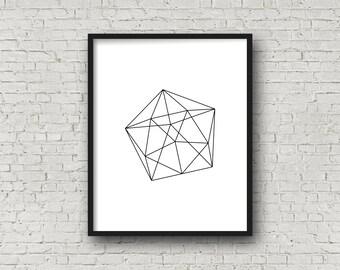 Geometric Shape, Minimalist Art, Home Decor, Printable Poster, Wall Prints, Black And White Prints, Minimalist Poster, Digital Print, Sign