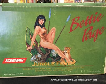 Bettie Page Jungle Fever Screamin' 1994 Resin Model Kit Limited Edition