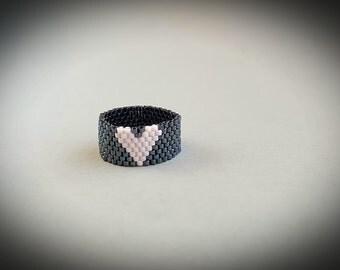 Handmade peyote stitch ring Miyuki ring Gift for her