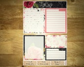 Scarlett Notes Page Kit Vertical & Horizontal Planner Stickers for Erin Condren LifePlanners