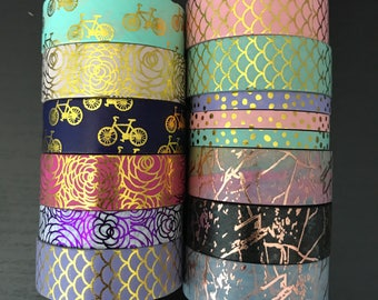 """24"""" SAMPLES of Simply Gilded and Becca foil washi tape (M89)"""