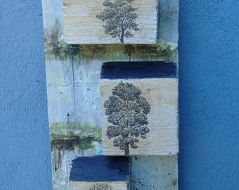 Art Houses On Reclaimed Wood Folk Art