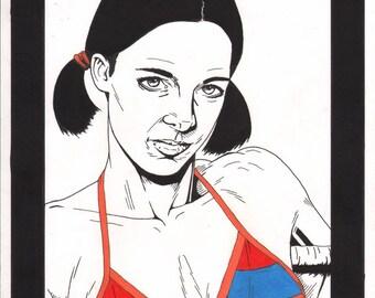Lina in Armenian Bikini.