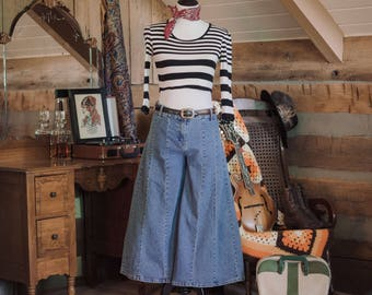 Vintage flared cropped jeans