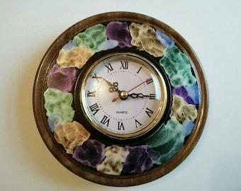Handmade Teak wall clock