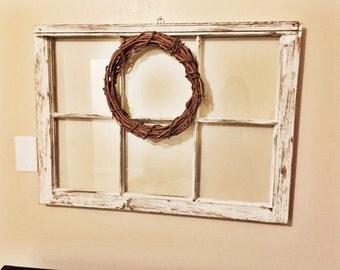 Window with wreath
