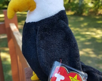 Vintage - Ty Beanie Baby - BALDY the Eagle, retired, 1996