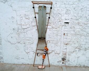 SOLD old coat hangers cloakroom, 4 hooks, 50's, vintage umbrella.