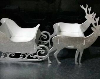 Raindeer sleigh decoration