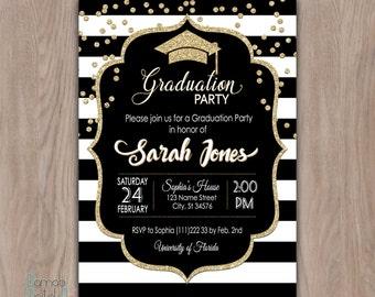 Graduation Party Invitation, graduation invitation, college graduation invitation, graduation party invites high school graduation printable