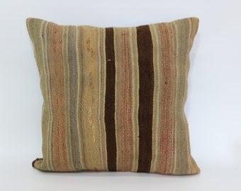 24x24 Handwoven Turkish Kilim Pillow Sofa Pillow 24x24 Decorative Kilim Pillow Throw Pillow Ethnic Pillow Boho Pillow SP6060-833