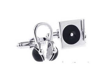 Music Cufflinks -k120 Free Gift Box.