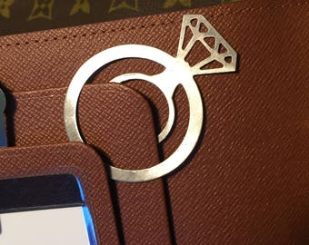 Stainless Steel Diamond Ring Paperclips- GLAM!