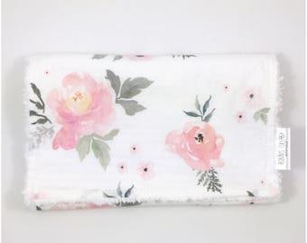 Monogram Burp Cloth - Personalized Baby Burp Cloth - Custom Burp Cloth - Baby Girl Burp Cloth - Floral Burp Cloth - New Baby Gift