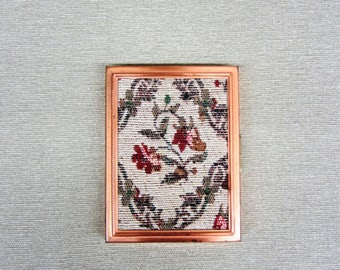 Vintage Copper Cigarette Holder Case Fabric Decor