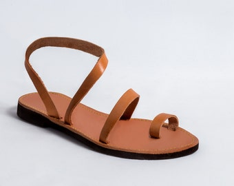 Genuine Greek Leather Sandals Totally Handmade High Quality Unique Grecian Womens Summer Shoes Free Shipping!