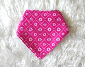 Hailey Bib - Pink Drool Bib, Pink Bandana Bib, Girl Bandana bib, Bibdana