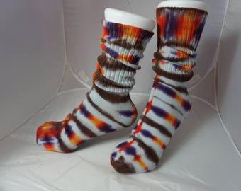 Fun tie-dye socks