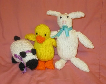 Knitted Spring Stuffed Animals