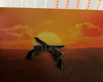 Vintage Deadstock Crossed Pistols enamel Pin