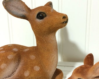 Flocked Mother Deer and her Fawn