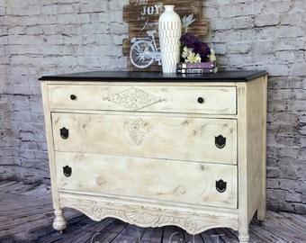 Sold ** Vintage Hand Painted Dresser