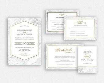 Wedding Invitation Template   Wedding Invitation, Wedding Printable   Wedding Invite Template, Wedding Suite, Instant Download   No. 2183