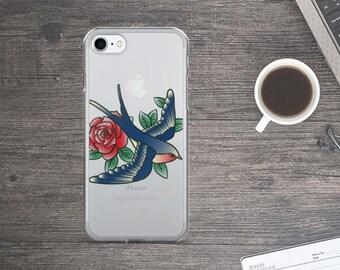 Tattoo bird iPhone Case - Tattoo bird iPhone 6 Case - Tattoo bird iPhone 6s Case - Tattoo bird Phone Case - Tattoo bird iPhone 5s Case