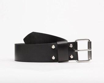 Wide leather belt // Stalin