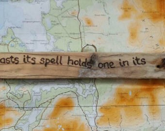 "Achill Island Driftwood Quotes ""The sea once it casts its spell..."""