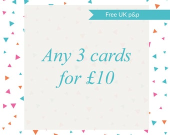 3 card multipack, pack of three cards, pack of 3 cards, any 3 cards, any three cards, card pack, card multipack