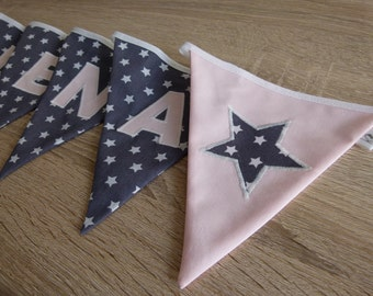 "Pennant Garland ""Star"" with name"