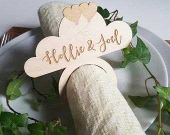 personalised napkin ring - set of 20