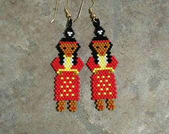 Beaded Dancer Earrings