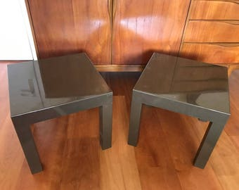 70s side tables / end tables / vintage / bedside tables / mid century / brown / retro / Dutch design