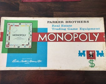 Vintage Monopoly Board Game 1961 Excellent Condition With Extra Money