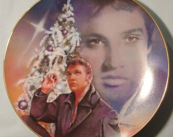 "Elvis Presley 'Hit Parade Collection' ""Blue Christmas"" Collector's Plate - NIB"