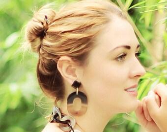 Horn Earrings 100% Handmade Jewelry E016