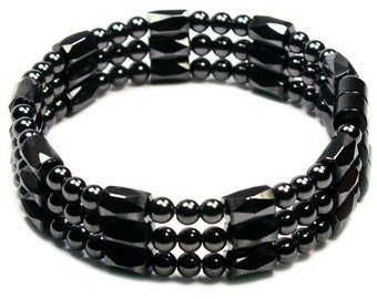 Magnetite Magic Triple Strand (Magnetic Bracelet, Necklace, Anklet) - Classic Collection - Neat