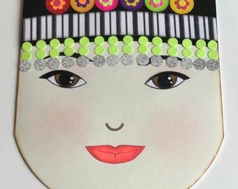 Hmong Woman Face flower hat