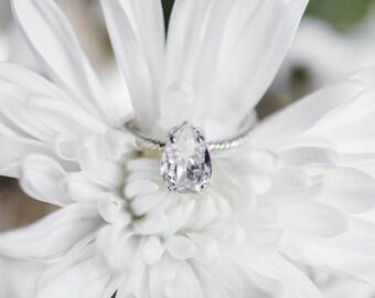 cinderella ring dainty gold ring crystal ring bridal gift bridesmaid gift - Cinderella Wedding Ring