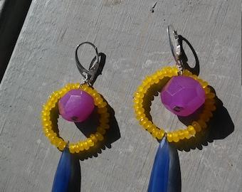 Bold Rainbow Gemstone Earrings