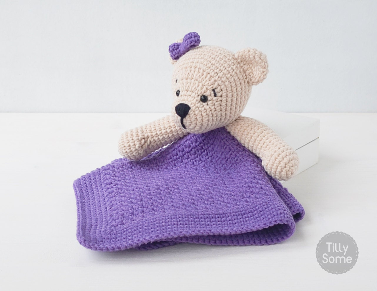 Teddy bear lovey pattern security blanket crochet lovey baby teddy bear lovey pattern security blanket crochet lovey baby lovey toy blanket toy lovey blanket pdf crochet pattern bankloansurffo Images