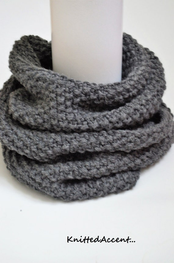 Infinity Scarf Knitting Pattern Super Bulky : MADE TO ORDERArm knit cowl/super bulky scarf/hand knitted