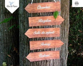 Kit printable wedding and event direction signs