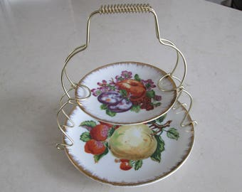 Two Tier Dessert Stand Serving Tray