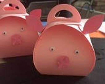 Pig Party Favor boxes (12)