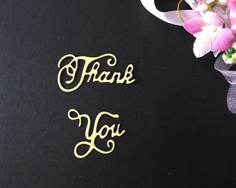 Craft Metal Die Cutter Thank You Sentiments Set Scrapbook Cardmaking Cutting Dies DC066