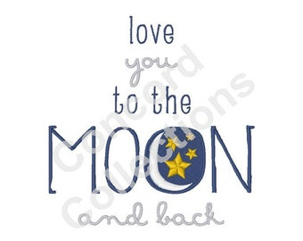 Moon And Stars Machine Embroidery Design
